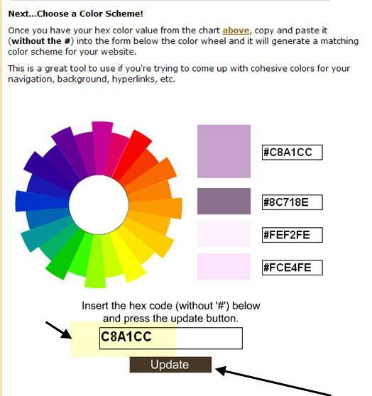 Cool Tools Hex Color Code Chart Generator