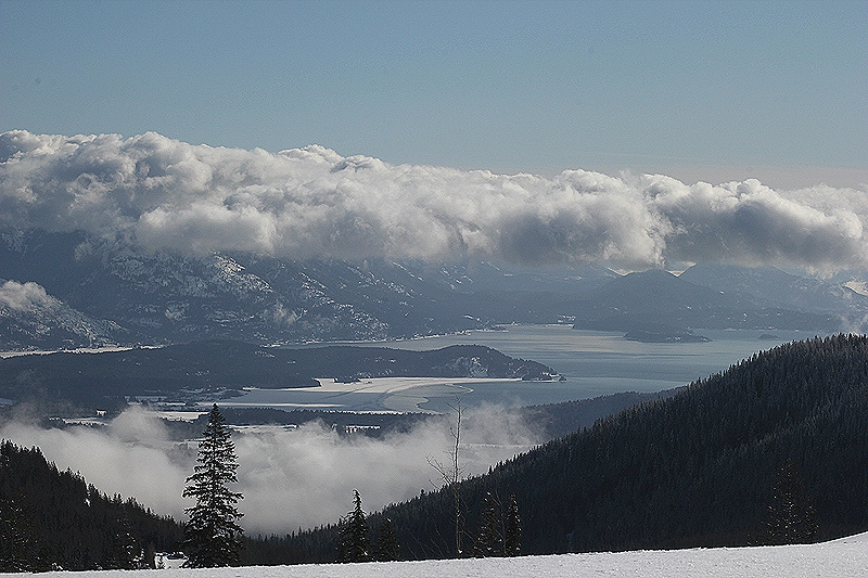 The views of Lake Pend Oreille are spectacular from Schweitzer Mountain
