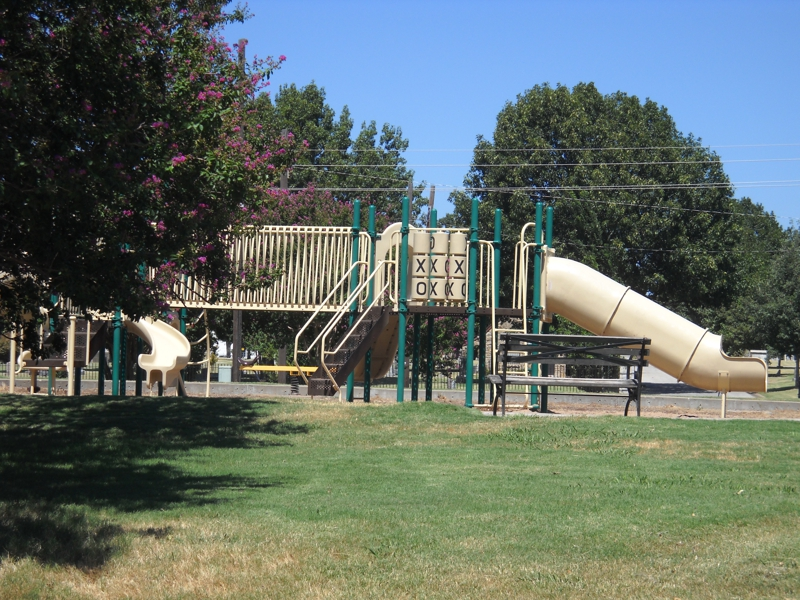 Tracy Park playground in midtown Tulsa