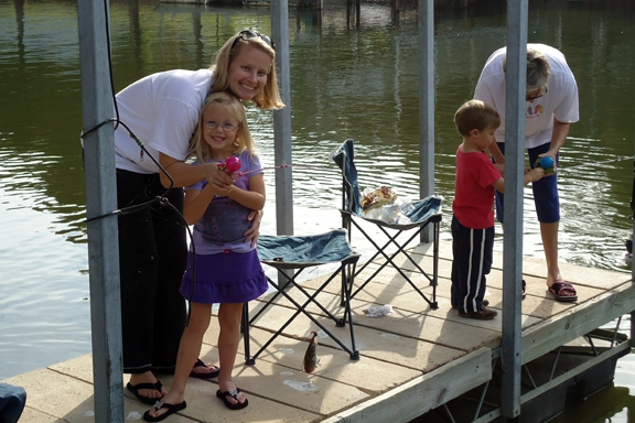 Fishing at Cedar Creek Lake