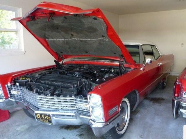 Red Cadillac Convertible