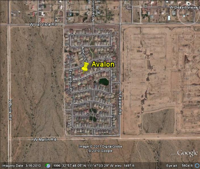 Casa Grande Homes For Sale - Avalon on the Map