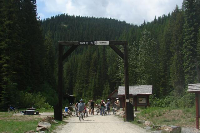 Begining of Hiawatha Trail at Montana Idaho Border