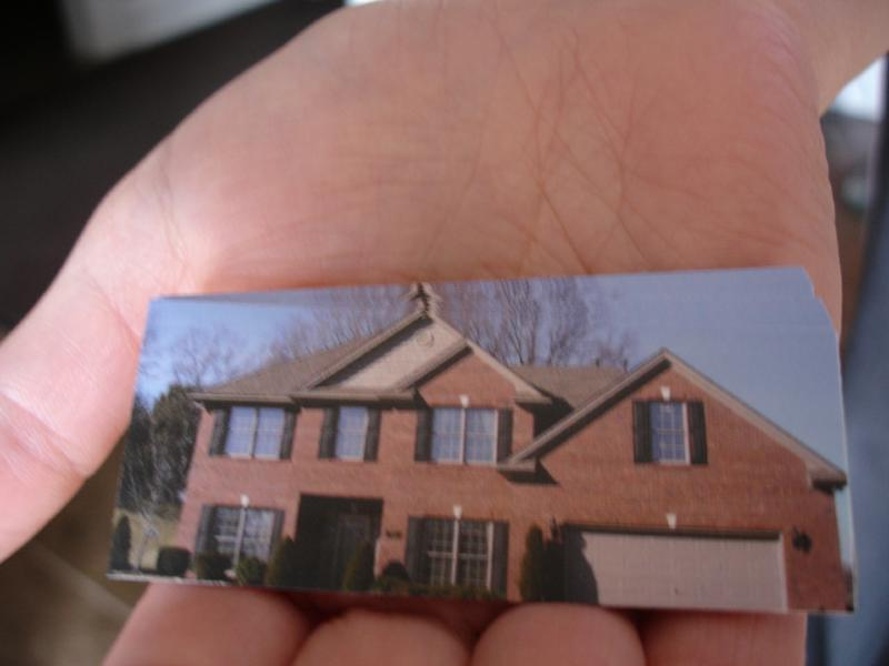 palm sized house cards are Handy to give out