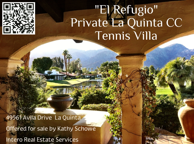 Private Tennis Villa La Quinta