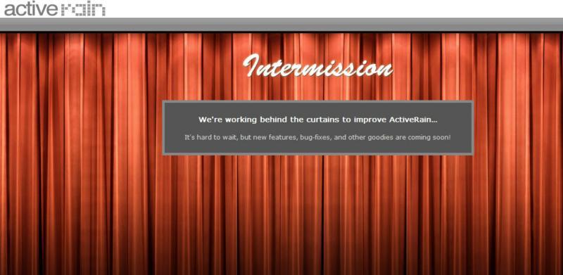 Active Rain Intermission Curtain