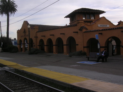 Picture of the Burlingame train station