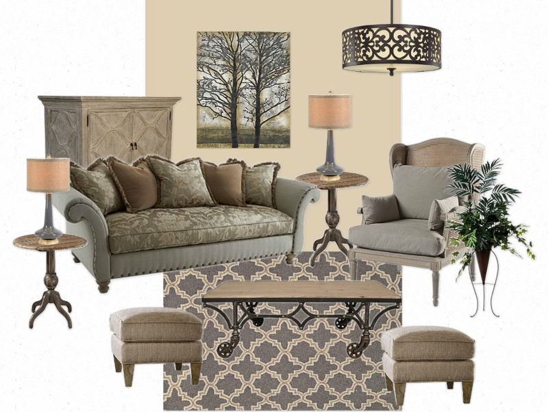 Orange County Decorating - Mixing High and Low End Living Room Decor.