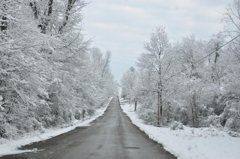 Real Snow In Southeast Oklahoma 2010