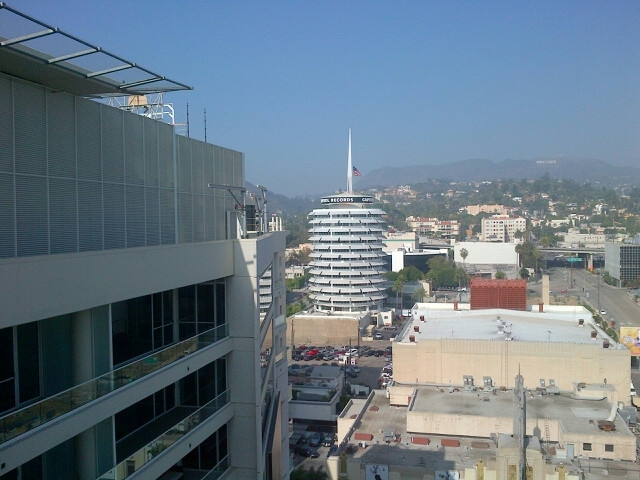 iconic Hollywood sign & the Capitol Records building Endre Barath
