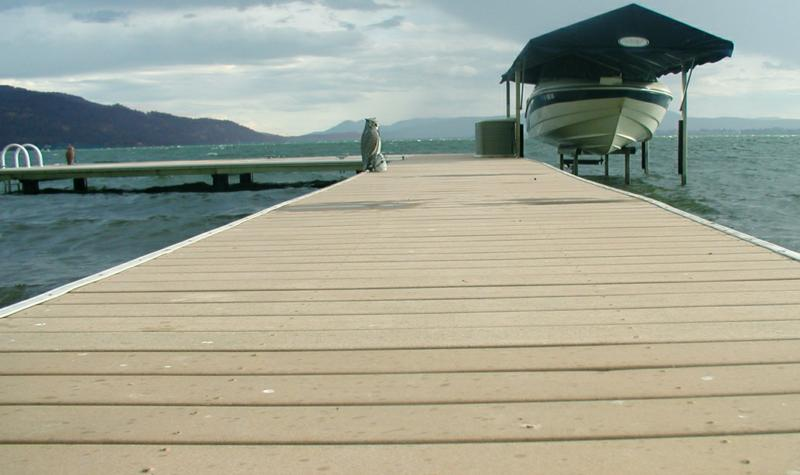 DOCK ON KOOTENAI BAY, SANDPOINT