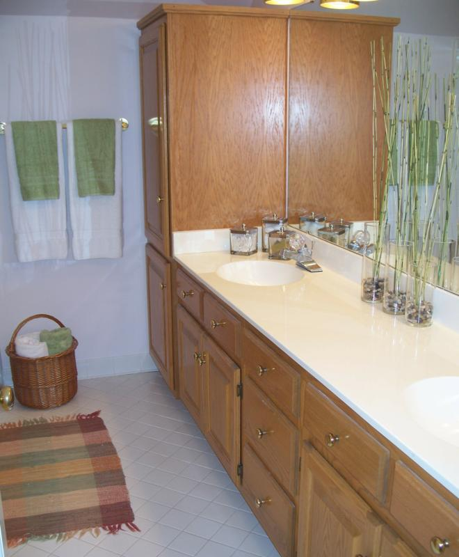 Occupied home staging lake norman in huntersville nc for Bathroom remodel norman ok