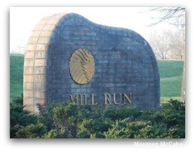 Mill Run sign