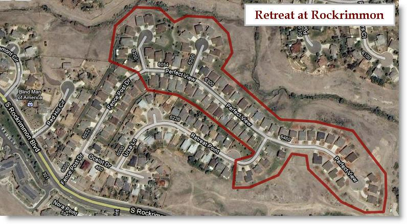 Retreat at Rockrimmon real estate market - MAP