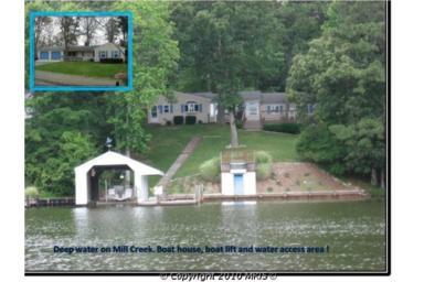 southern maryland waterfront home for sale in lusby with deep water pier on mill creek