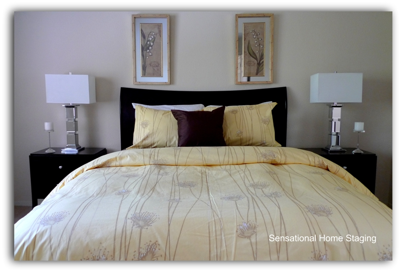 Bay area home staging how to sell a master bedroom for Staging master bedroom