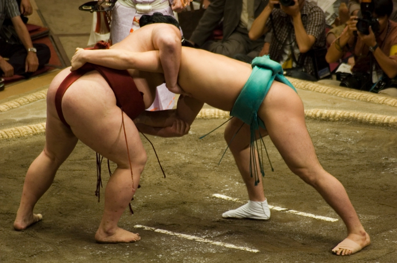 Two sumo wrestlers