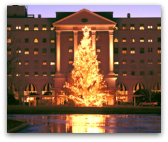 Christmas tree lighting at the Greenbrier