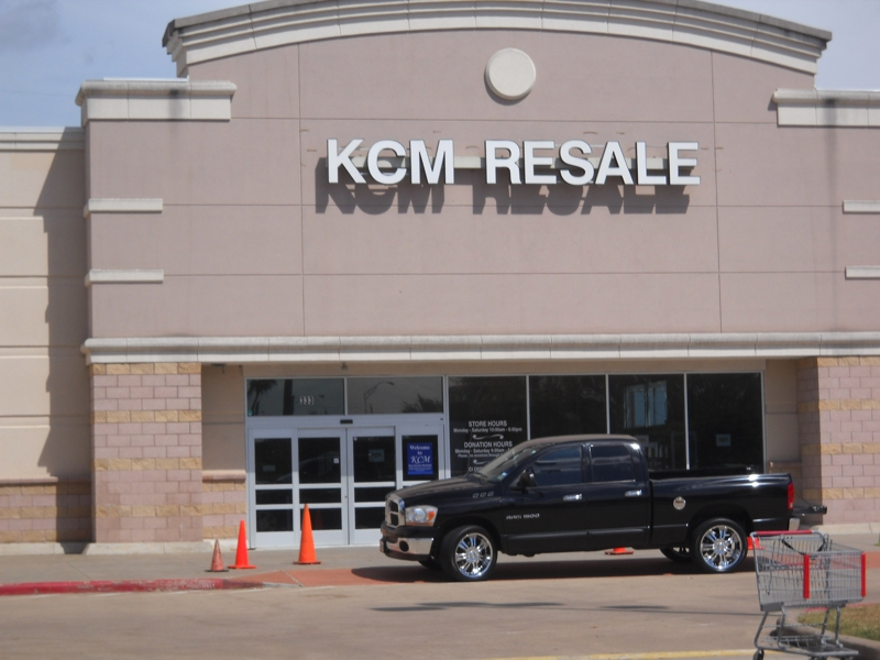 Front of KCM Resale Store on Mason Road Katy Texas