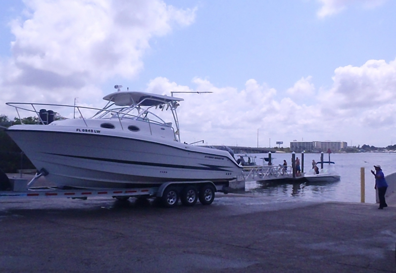 Bay Pines boat ramp with larger boats