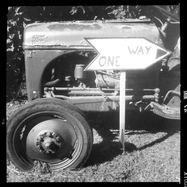 old Ford tractor at a Haiku Maui HI property for sale