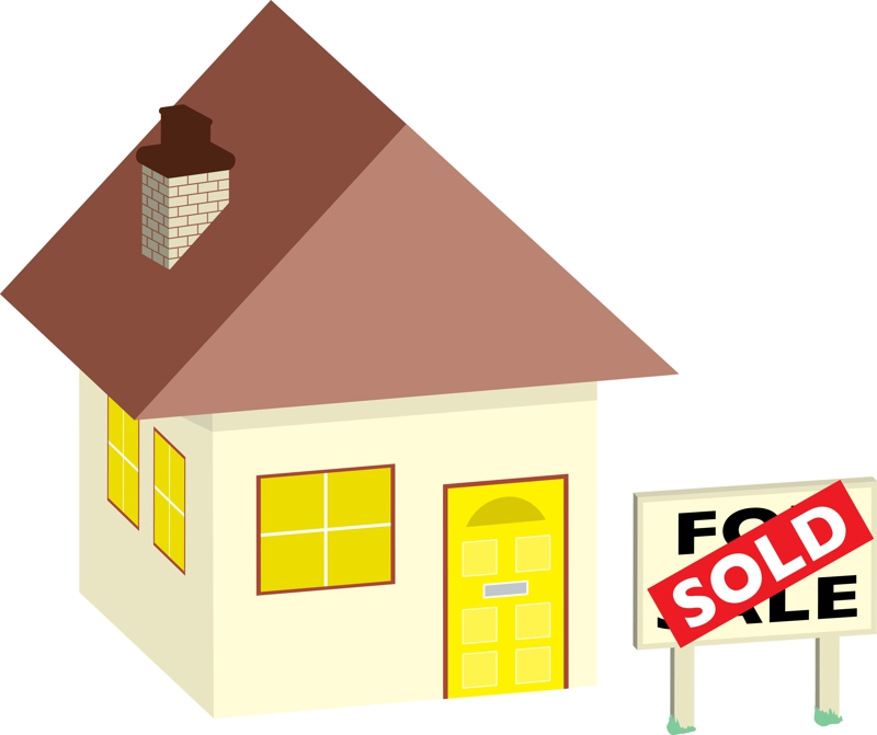 clipart house for sale. Clip Art House Sold
