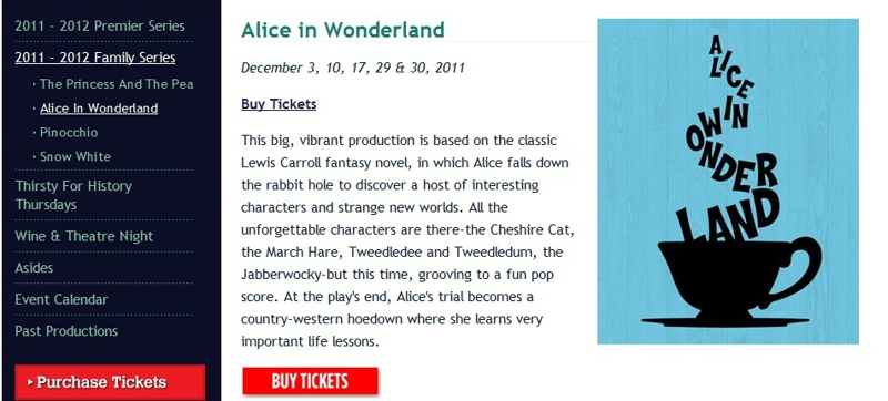 Alice in Wonderland at the Fulton Theater, Lancaster