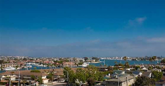 Harbor view from Newport Heights