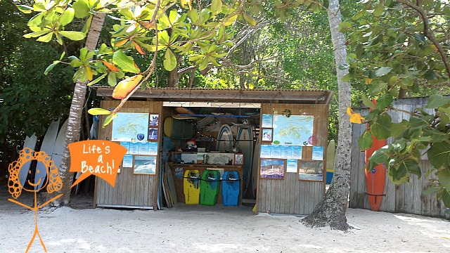 Beach shack on St John USVI