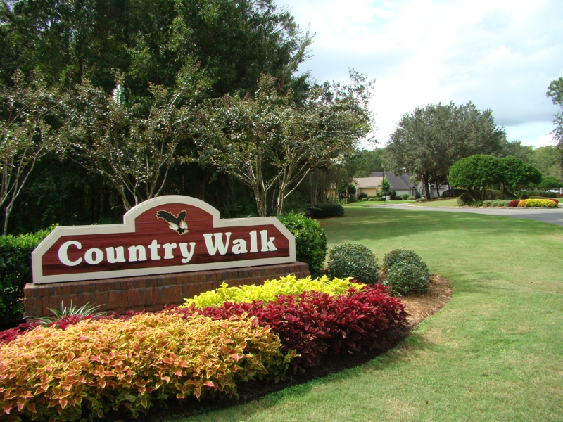 Entrance to Country Walk at Eagle Harbor Fleming Island Florida