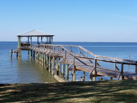 Quiet morning on Moible Bay in Fairhope, AL
