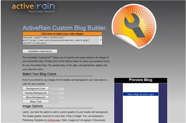 ActiveRain Blog Customizer