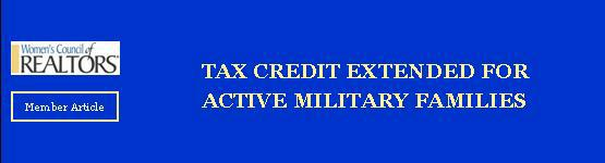 Tax Credit for Active Military Families