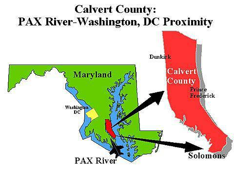 Calvert County Map