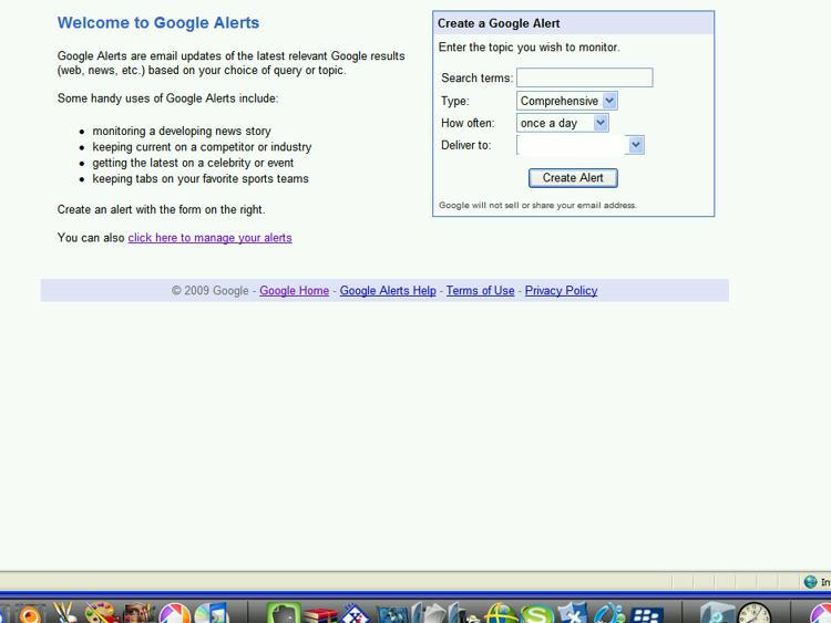 Create Google alerts by Bob Haywood