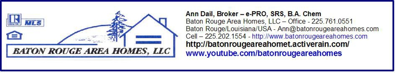 Baton Rouge Area Homes footer