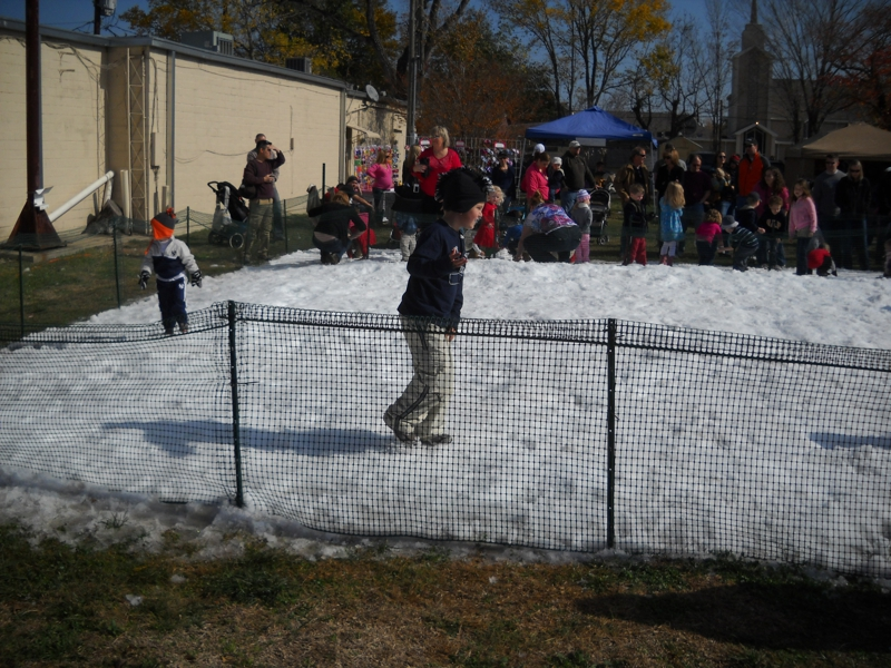 Snow at festival 2011