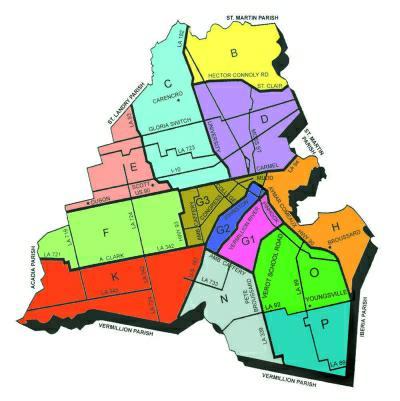 Lafayette Parish, LA, MLS map