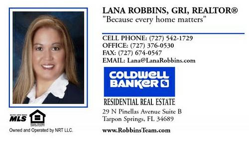 Tampa Bay Florida Real Estate Agent. I recently ordered more business cards