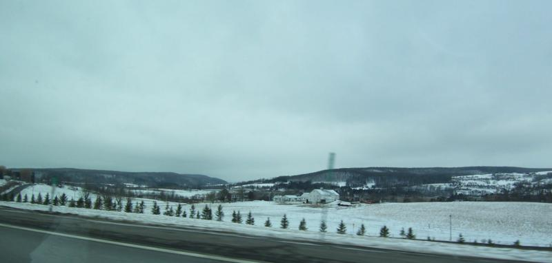 Beautiful rural scene on the way to Oneonta NY