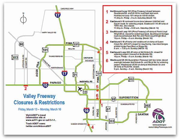 Phoenix Freeway Map
