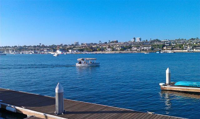 Harbor views toward Balboa Island