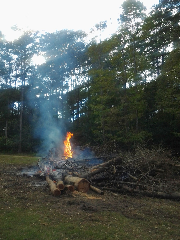 Permitted Fire Burns Out
