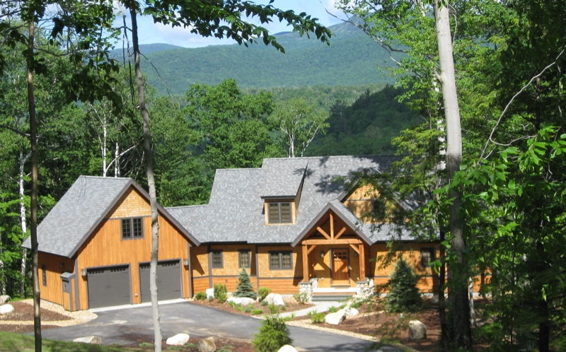 Brettonwoods loon mountain and waterville valley new for Adirondack style house plans