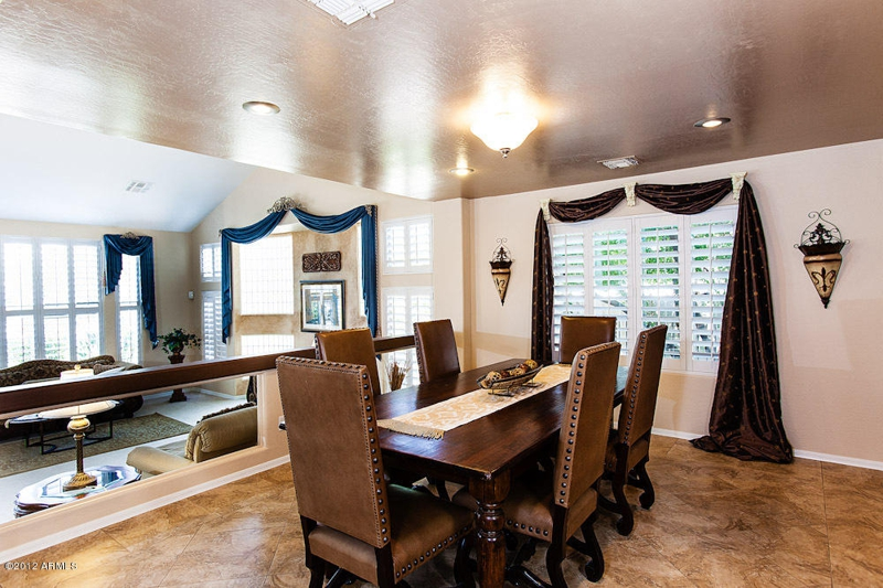 Spacious elevated formal dining 5 bedroom homes for sale in mesa az