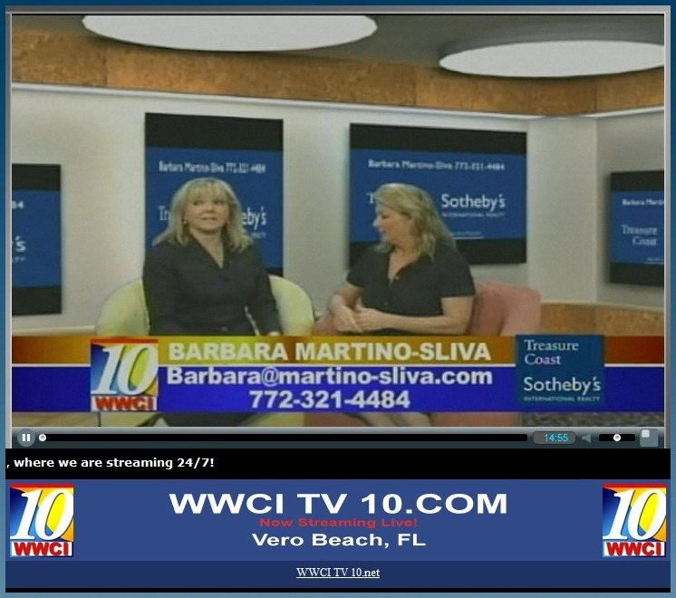 BARBARA MARTINO-SLIVA OF TREASURE COAST SOTHEBY'S INTERNATIONAL REALTY APPEARS ON FLORIDA LIVING