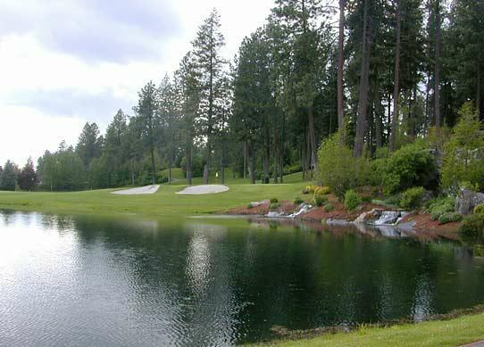 Avondale Golf Club - 18th Fairway Pond - Hayden Lake Idaho