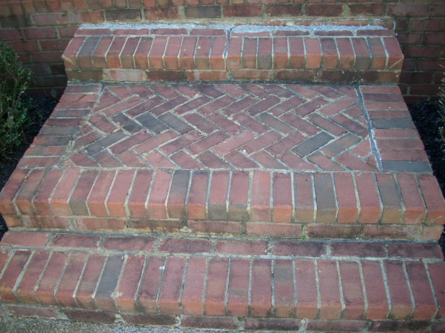 So In The Photo Above Perhaps You Can See The Deteriorated Mortar Around  The Brick. Look Closely At The Poor Repair Where The Steps Meet The Stoop.