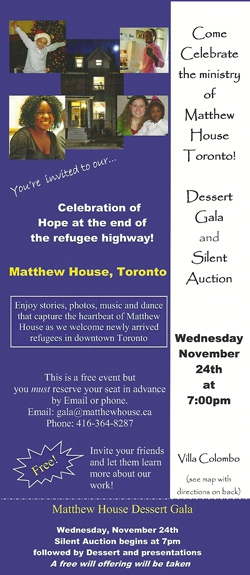 Matthew House Desert Gala Invitation