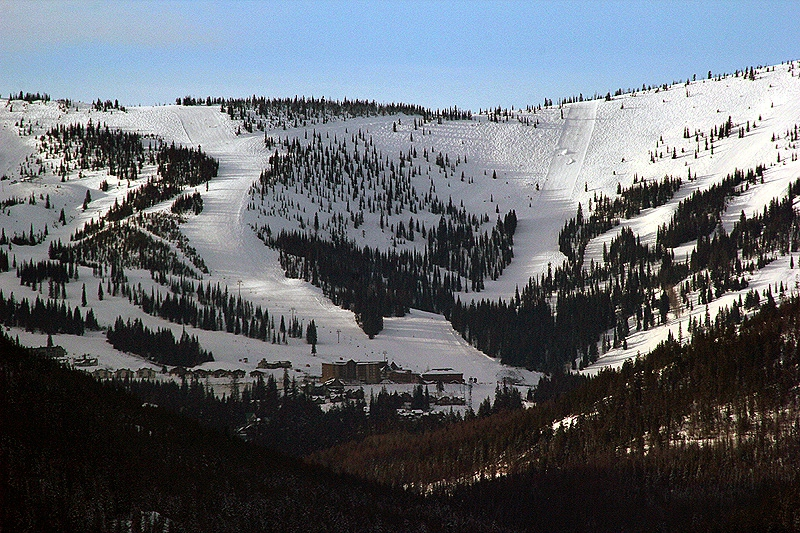 Schweitzer Mountain Ski Resort above Sandpoint and Lake Pend Oreille